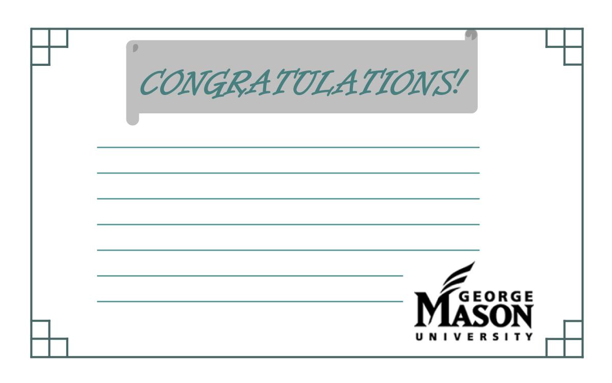 Recognition Congratulations Cards
