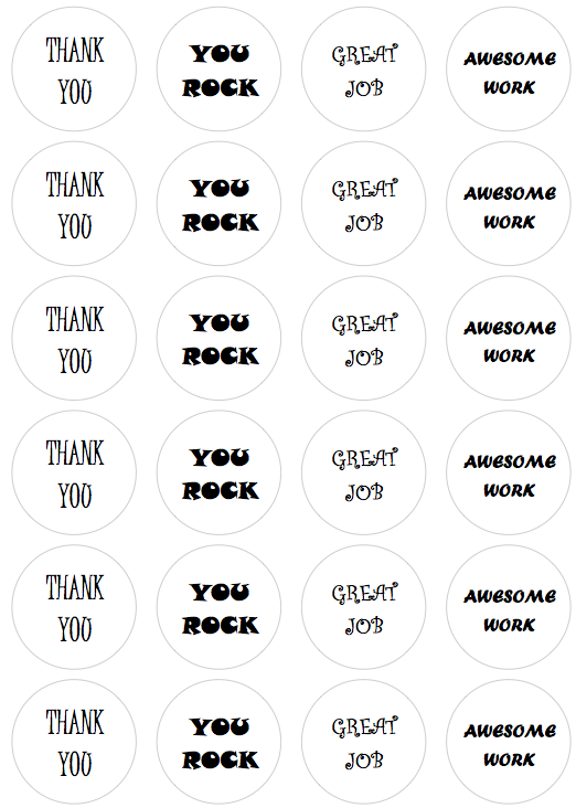 Recognition Stickers Black and White